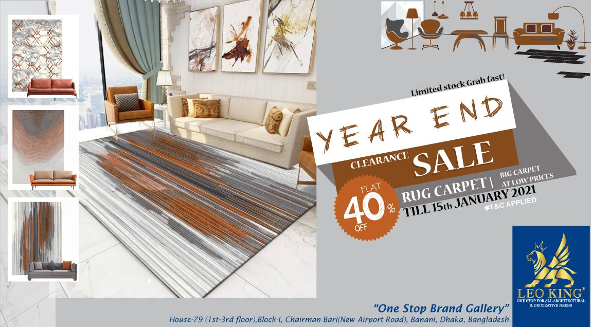 year end sale offer 2020 on leo king premium rug carpet